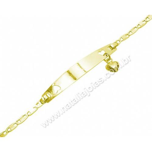 Pulseira de Ouro 18k/750 Infantil PL11