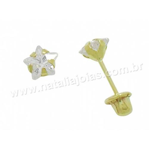 Brinco de Ouro Infantil 18k/750 BRI61