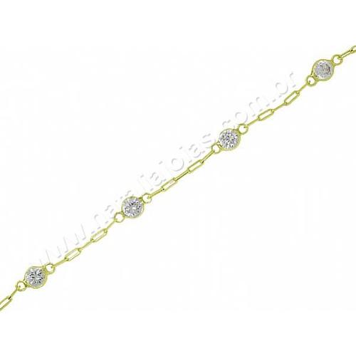 Pulseira de Ouro 18k/750 Infantil PL09