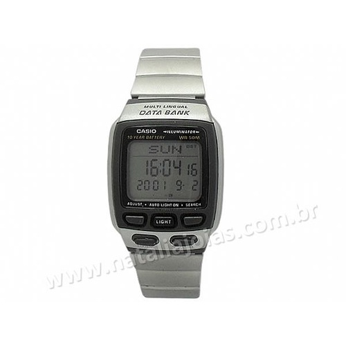 Relogio CASIO Masculino Data Bank