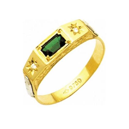 Anel de Formatura em Ouro 18k/750 com Diamante ANF12