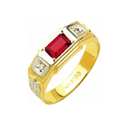 Anel de Formatura em Ouro 18k/750 com Zirconia ANFO22