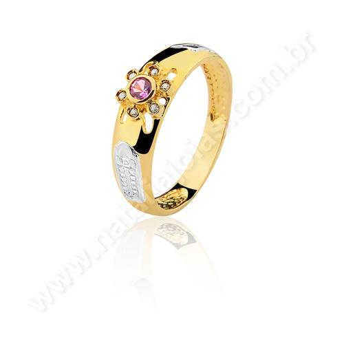 Anel de Formatura em Ouro 18k/750 com Diamante ANF36