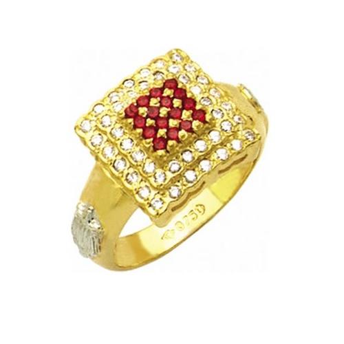 Anel de Formatura em Ouro 18k/750 com Diamante ANF31