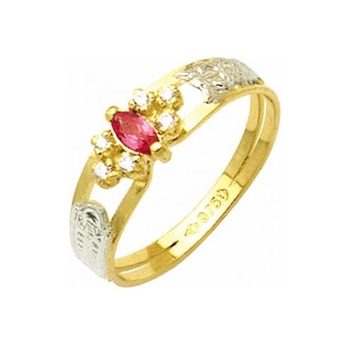 Anel de Formatura em Ouro 18k/750 com Diamante ANF33