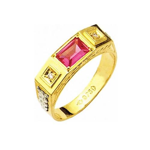 Anel de Formatura em Ouro 18k/750 com Zirconia ANFO08