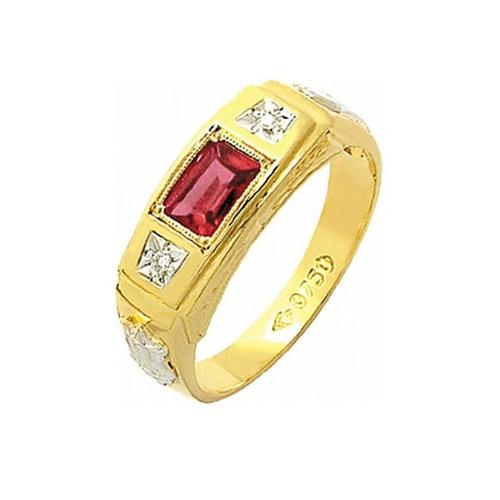 Anel de Formatura em Ouro 18k/750 com Zirconia ANFO55