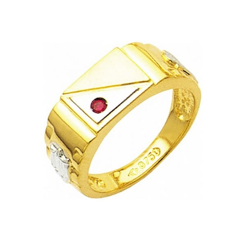 Anel de Formatura em Ouro 18k/750 com Zirconia ANFO17