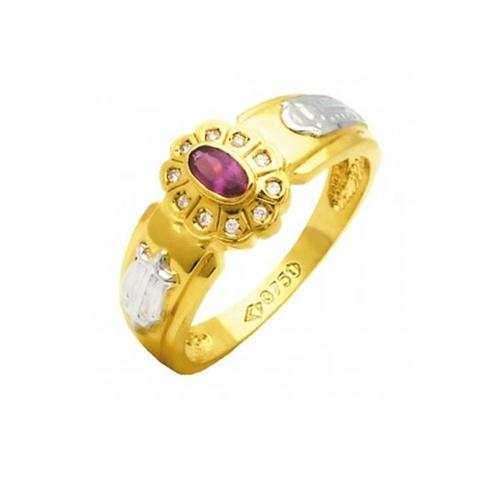 Anel de Formatura em Ouro 18k/750 com Zirconia ANFO60