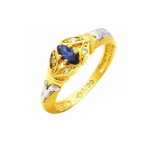 Anel de Formatura em Ouro 18k/750 com Diamante ANF69