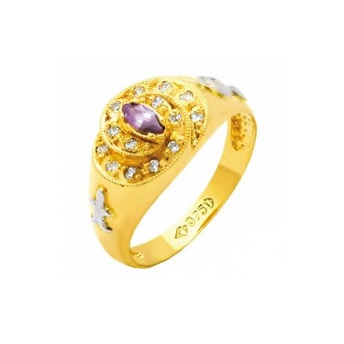 Anel de Formatura em Ouro 18k/750 com Diamante ANF70