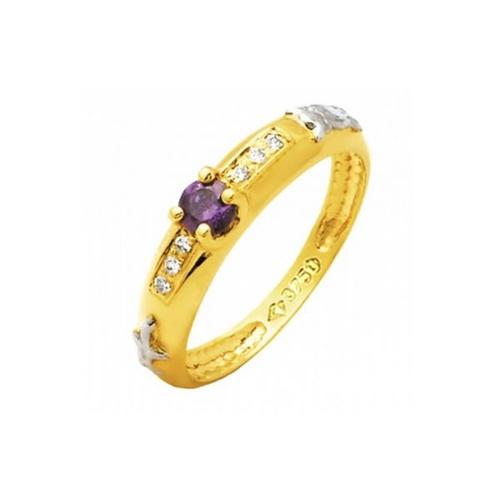 Anel de Formatura em Ouro 18k/750 com Diamante ANF73