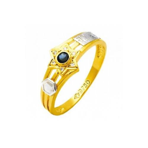 Anel de Formatura em Ouro 18k/750 com Diamante ANF74