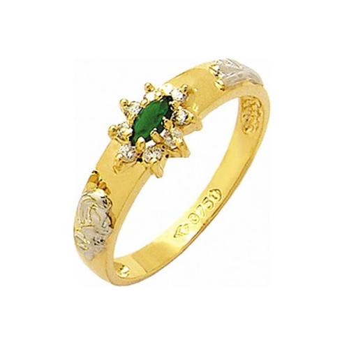Anel de Formatura em Ouro 18k/750 com Diamante ANF51