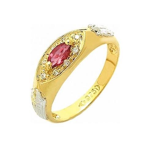 Anel de Formatura em Ouro 18k/750 com Diamante ANF54