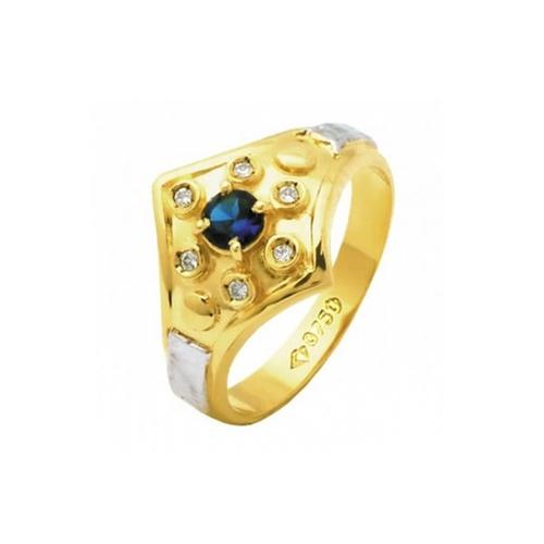 Anel de Formatura em Ouro 18k/750 com Diamante ANF57
