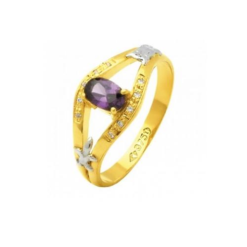 Anel de Formatura em Ouro 18k/750 com Diamante ANF58