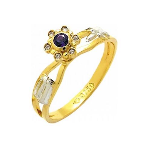 Anel de Formatura em Ouro 18k/750 com Diamante ANF42