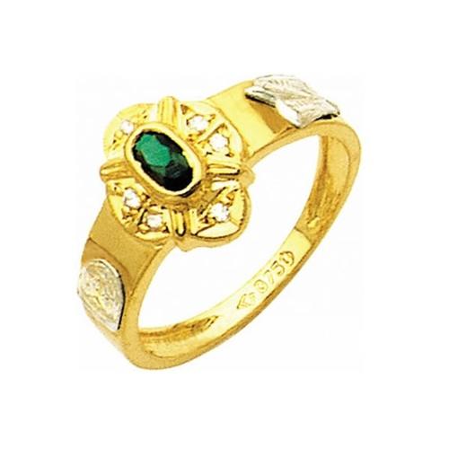 Anel de Formatura em Ouro 18k/750 com Diamante ANF11