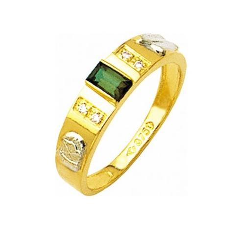 Anel de Formatura em Ouro 18k/750 com Zirconia ANFO24