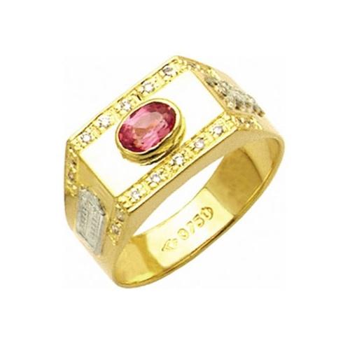 Anel de Formatura em Ouro 18k/750 com Diamante ANF26