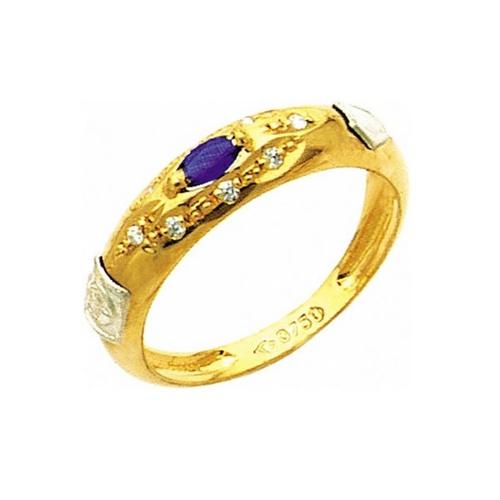 Anel de Formatura em Ouro 18k/750 com Diamante ANF02