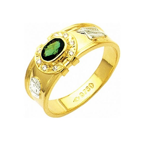 Anel de Formatura em Ouro 18k/750 com Diamante ANF09