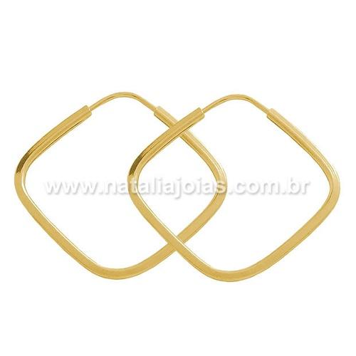 Brinco de Ouro 18k/750 Argola BRA19