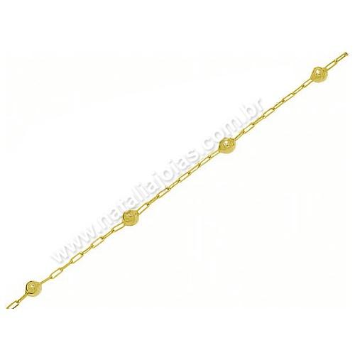 Pulseira de Ouro 18k/750 Infantil PL02