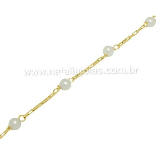 Pulseira de Ouro 18k/750 Infantil PL16