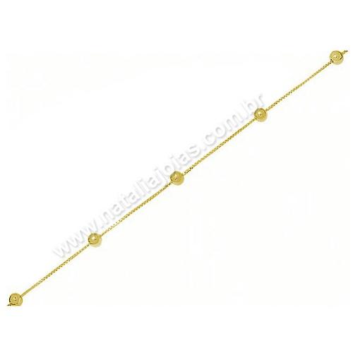Pulseira de Ouro 18k/750 Infantil PL01