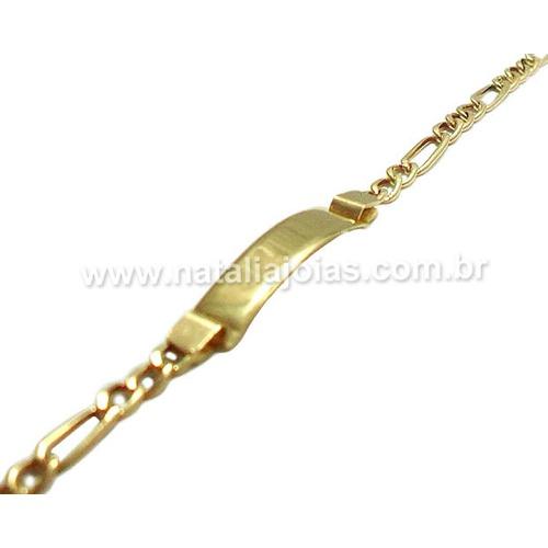 Pulseira de Ouro 18k/750 Infantil PL19