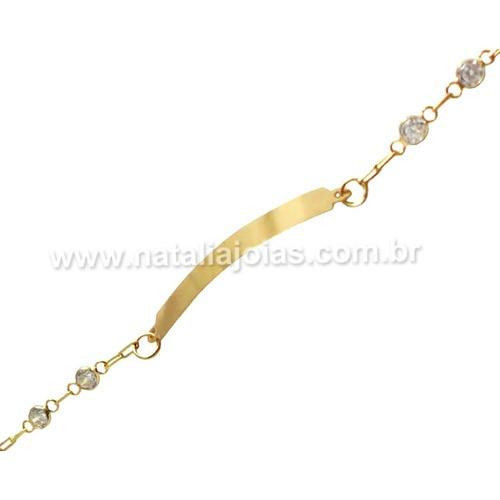 Pulseira de Ouro 18k/750 Infantil PL21