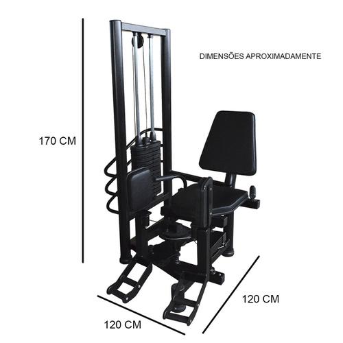 Aparelho Cadeira Adutora e Abdutora para Musculação - Natural Fitness