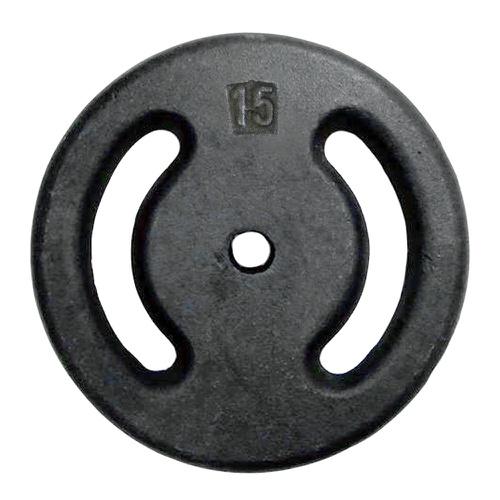 Anilha de Ferro Pintada 15kg Vazada - Natural Fitness