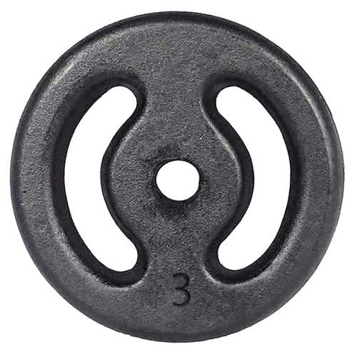 Anilha de Ferro Pintada 3kg Vazada - Natural Fitness
