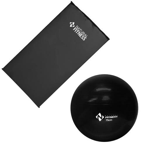 Kit Colchonete + Bola Suíça 75cm Pilates treino funcional