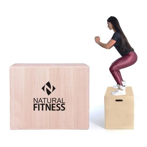 Caixa De Salto Plyobox Madeira 60x50x75 - Natural Fitness