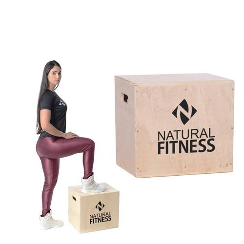 Caixa De Salto Plyobox Madeira 40x35x44 - Natural Fitness