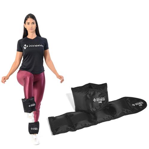 Par de Caneleiras com Peso 3 Kg - Natural Fitness