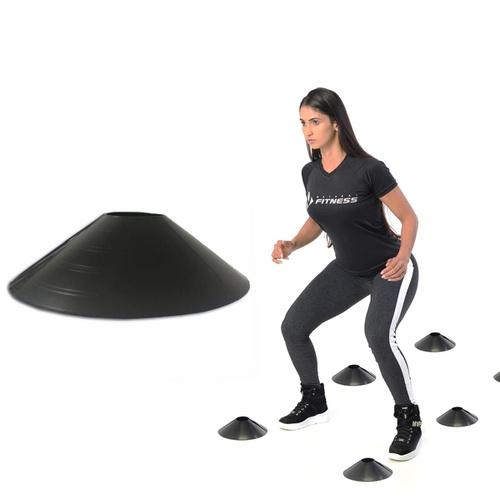 Kit Agilidade Chapéu Chinês Preto Mini Cone 10 Unidades - Natural Fitness