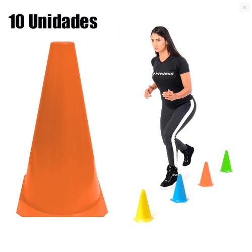 10 Cones Colorido para Circuito- LISO - Natural Fitness