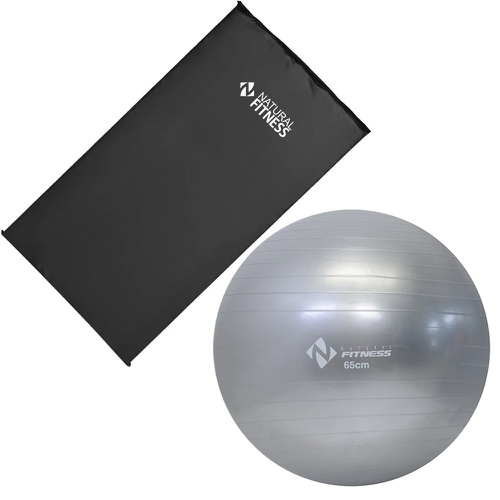 Kit colchonete + bola suiça 65 cm + bomba