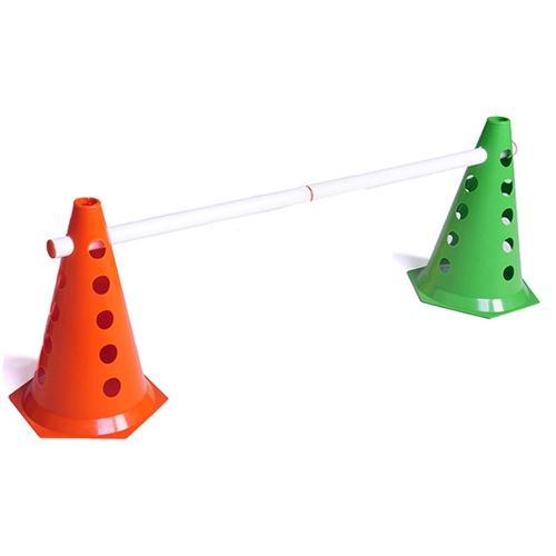 Kit 2 Cones Coloridos com Barreira Treino funcional de Agilidade - Natural Fitness
