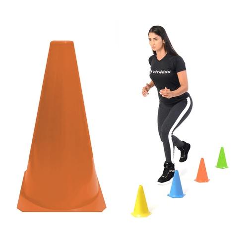 Cone Colorido para Treino Funcional de Agilidade Liso - Natural Fitness