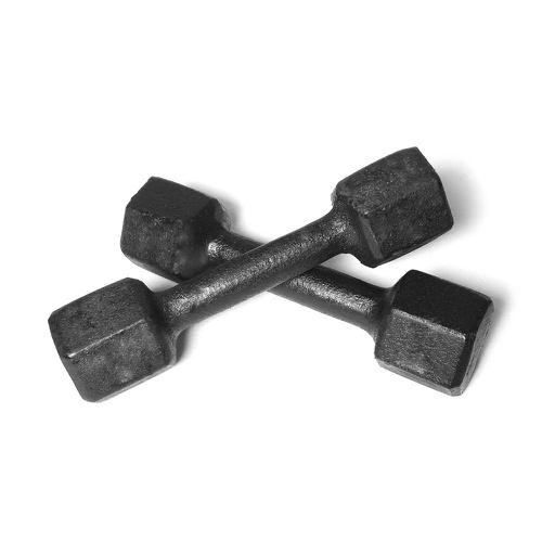 Par de Dumbell Sextavado Pintado Preto 1Kg - Natural Fitness