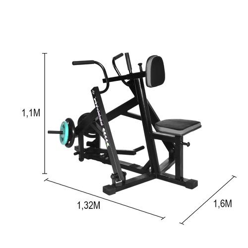 Aparelho de Remada Horizontal Articulada para Musculação