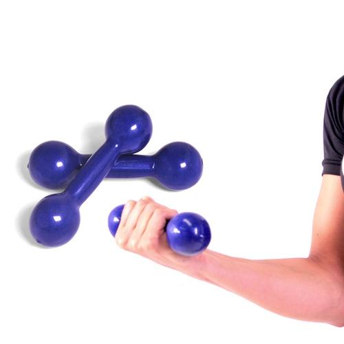 Par de Halter Emborrachado 1 Kg - Natural Fitness