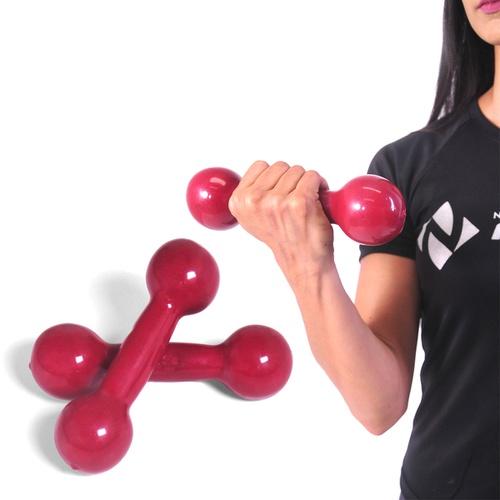 Peso Halter Emborrachado 2kg De Academia De Musculação