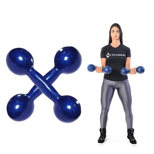 Peso Halter Emborrachado 8kg De Academia De Musculação